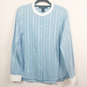 Marc Jacobs Striped Button Shirt Blue